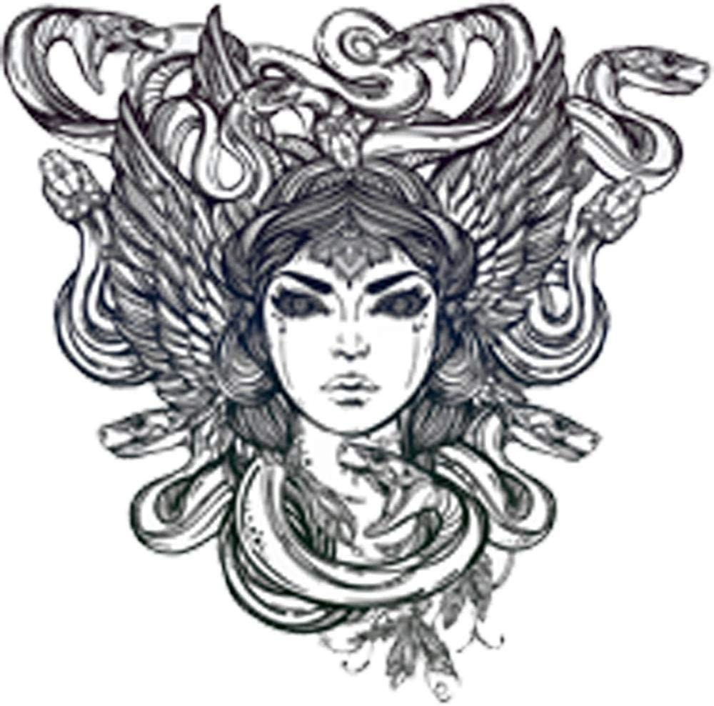 Amazon Com Pretty Medusa Goddess Drawing Vinyl Decal Sticker 8 Tall Arts Crafts Sewing Love the idea of her still having regular hair. pretty medusa goddess drawing vinyl decal sticker 8 tall