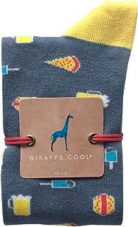 Giraffe Cool Calcetín para Hombre de Color Azules Fast Food