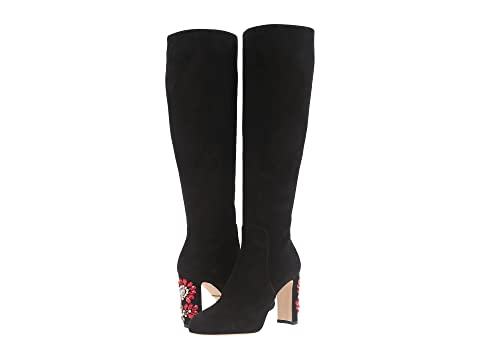 Suede Knee Boot with Jewel Embellished Heel Dolce & Gabbana 5m81JSk9