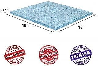 Upholstery Visco Cool Gel Memory Foam Square Sheet 1/2