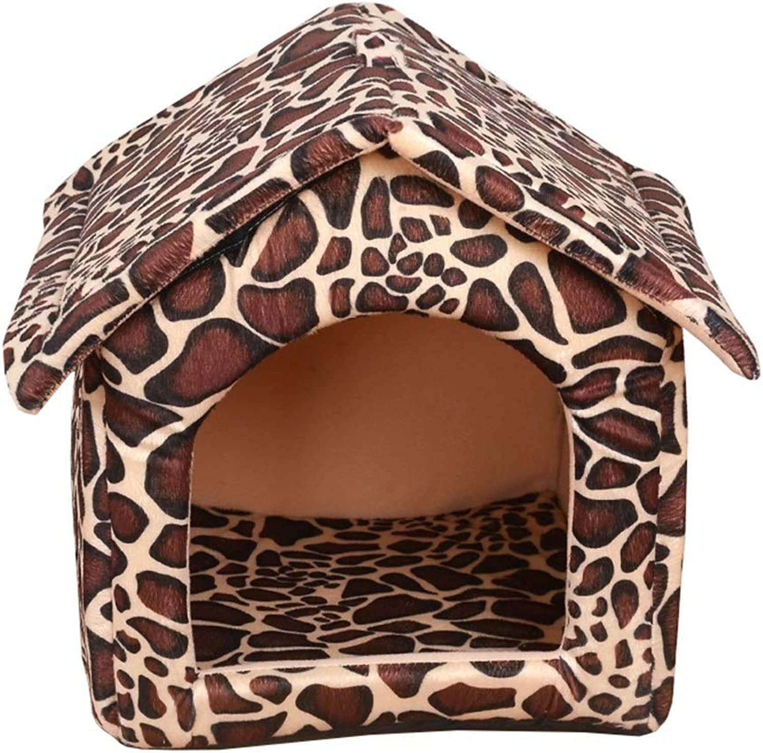 Ryan Dog Nest, Warm And Comfortable Folding Detachable Washable Doghouse Cat House Dog House Semienclosed Pet House (color   1, Size   M)