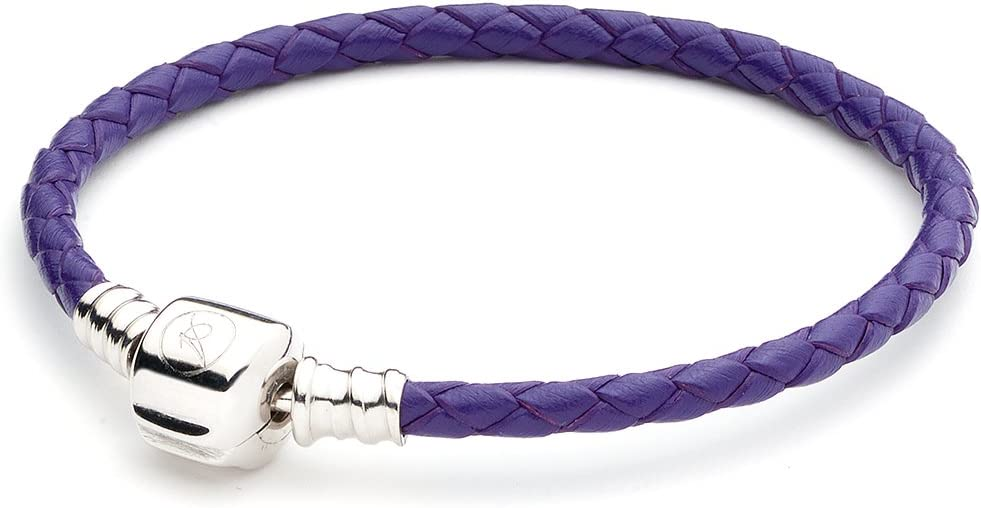 ATHENAIE Purple Finally resale start Single Super popular specialty store Braided Leather Sterling Snap 925 Silver