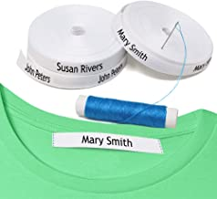 100 Personalized Labels to Mark Clothes. Sewing Tape in Clothes. Gentle with Your Kids Skin, for Children's School Uniform/Clothing Labels for Kids, Baby and Children. Send Text in Gift MESAGE