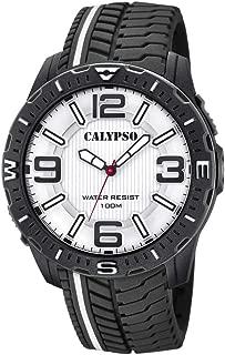 Calypso street style Mens Analog Quartz Watch with Rubber bracelet K5762/1
