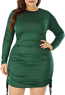 FridayIn Women's Plus Size Fashion Floral Maxi Casual Dresses