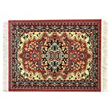 Colorful Red Rug Mouse Pad - Oriental Design Carpet Computer Mousemat with Support