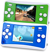 Handheld Games Console for Kids, Portable Retro Video Game Can Play on TV(Green and Blue)
