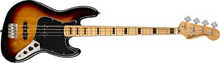 Squier by Fender Classic Vibe 70's Jazz Bass Guitar - Maple - 3-Color Sunburst