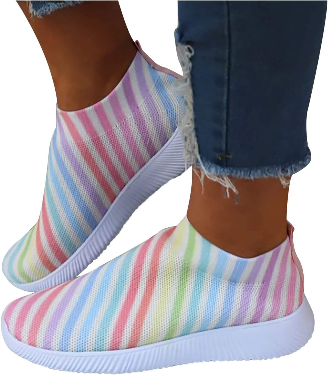 Olymmont Fashion Sneakers for Women Me Memphis Mall Multicolor Ranking TOP14 Stripe Running