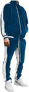 Xmiral Felpa Tuta Sportiva da Uomo Casual Cardigan con Cappuccio Youth Color Blocking