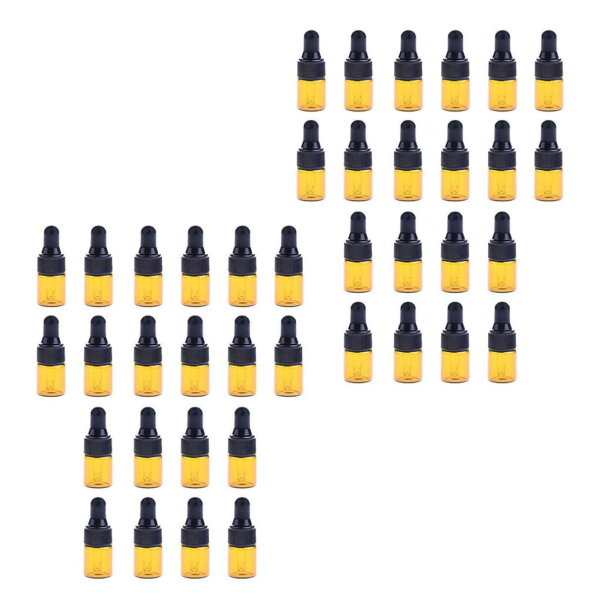 アサー翻訳するコンパクトD DOLITY ドロッパーボトル ガラス瓶 エッセンシャルオイル 精油 保存容器 詰め替え 小型 1ml /2ml 40個入