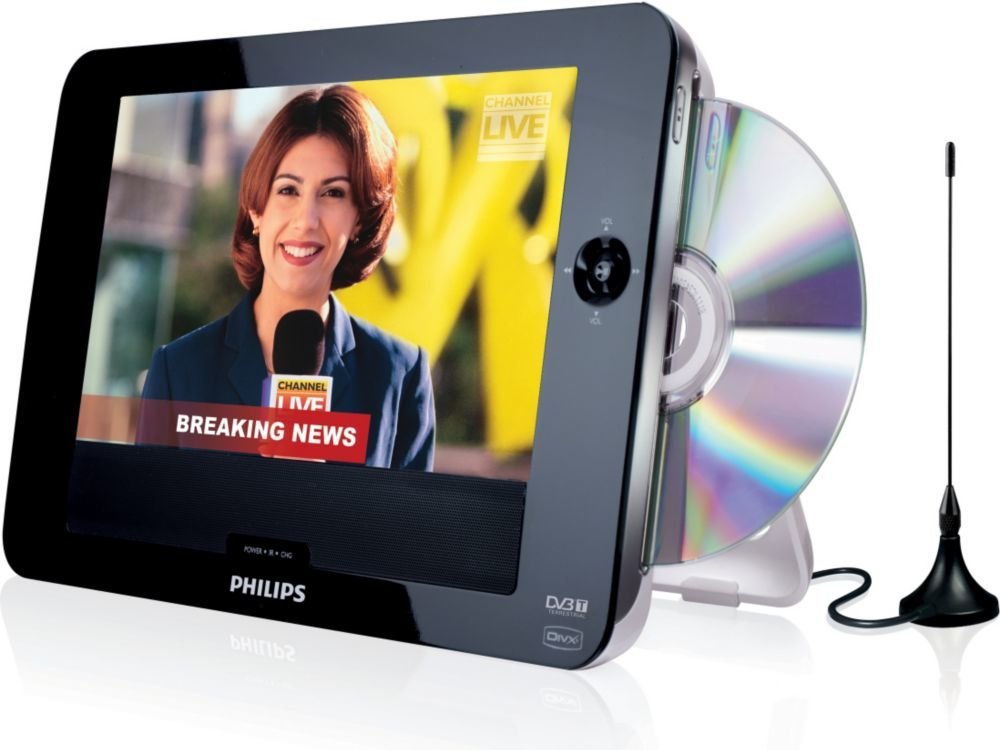 Philips DVD y televisor portátil PD8015 - Reproductores de DVD ...