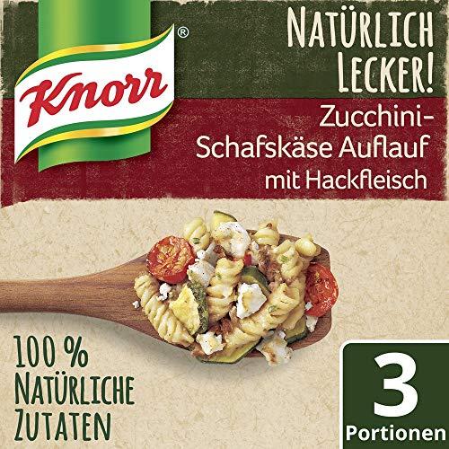 Knorr Natürlich Lecker Zucchini-Schafskäse Auflauf mit Hackfleisch, 3 Portionen
