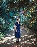 Royal Blue Velvet Wickelkleid