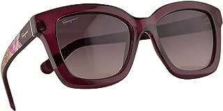 Salvatore Ferragamo SF858S Sunglasses Violet w/Brown Gradient Lens 53mm 500 SF 858S