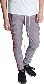 KDNK Plaid Track Pants with Ankled Zippers