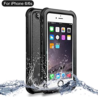 NewTsie Funda iPhone 6, Funda iPhone 6s, Anti-rasguños Impermeable Carcasa Funda Case con Protector de Pantalla Submarino Caso para iPhone 6/6s 4.7 Inch (B-Negro)
