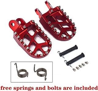 JFG RACING Billet MX Wide Foot Pegs Pedals Rests For CR80R/RB 1996-2002 / CR85R/RB 2003-2007 / XR250R 1996-2004 / XR400R 1996-2004 / XR600R 1989-2000 / XR650L 1992-2019 / XR650R 2000-2007