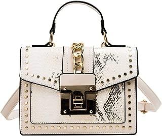 Snakeskin Purse Small Shoulder Saddle Bag for Women Teen Girls Retro Serpentine Crossbody Bags Messenger Bag