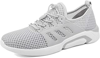 KPILP Men Shoes Basic Solid Color Large Size Mesh Running Shoes Wild Lightweight Breathable Sports Gym Sneakers