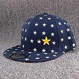 Chapeaucasquette De Baseball Casquettes De Baseball pour Enfants Casquette Étoile pour Garçons Réglable FloralNoir Chapeau D'Été Fille Enfants 48-54Cm Navyblue