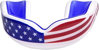Oral Mart USA Flag Sports Mouth Guard for Kids/Adults - American Flag Sports Mouthpiece for Flag Football, Karate, Boxing,...