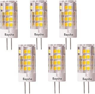 Bayshe G4 LED Bulb 3.5W 350lm 2700K Warm White (12volt 40watt Equivalent) Ceramic AC/DC12V T3 Bi-Pin Base Light for Outdoor Landscape Path Deck Step Paver Lighting,Not dimmable 6-Pack