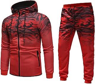 iNoDoZ Men's Autumn Winter Camouflage Sweatshirt Top Pants Sets Sports Suit Tracksuit Mens Pullover Shirts