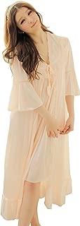 Nightgown Pyjamas Dress for Women Girls Satin Robe Nightwear Set