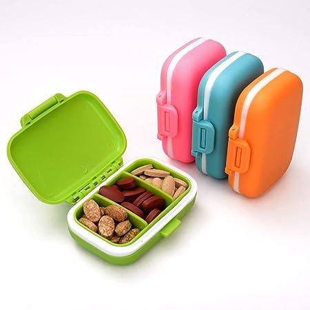 Portapillole,Pill Box,Portapillole Pill Pilles,Fashion Pill Organizer Pillola da Viaggio Case Medical Pill Box Dispenser per Vitamine Integratori Medicina Box,portapillole Portatili Piccoli