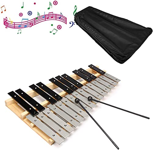 EsportsMJJ 25 Note Glockenspiel Xylophone Educational Musical Instruments Mallet Percussion Orff