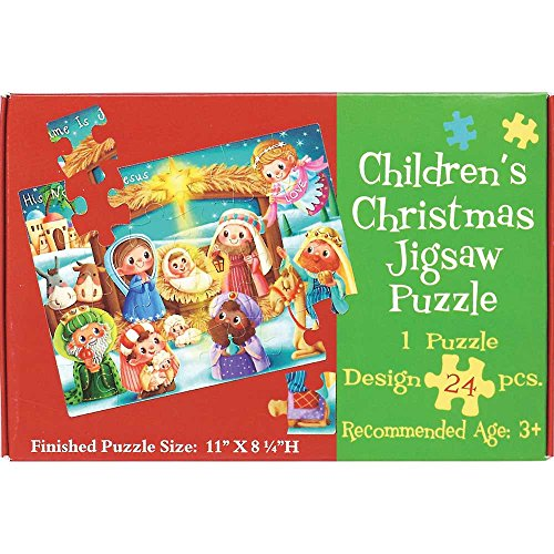 His Name is Jesus Whimsical Nativity 8.25 x 11 24-Piece Children's Christmas Jigsaw Puzzle