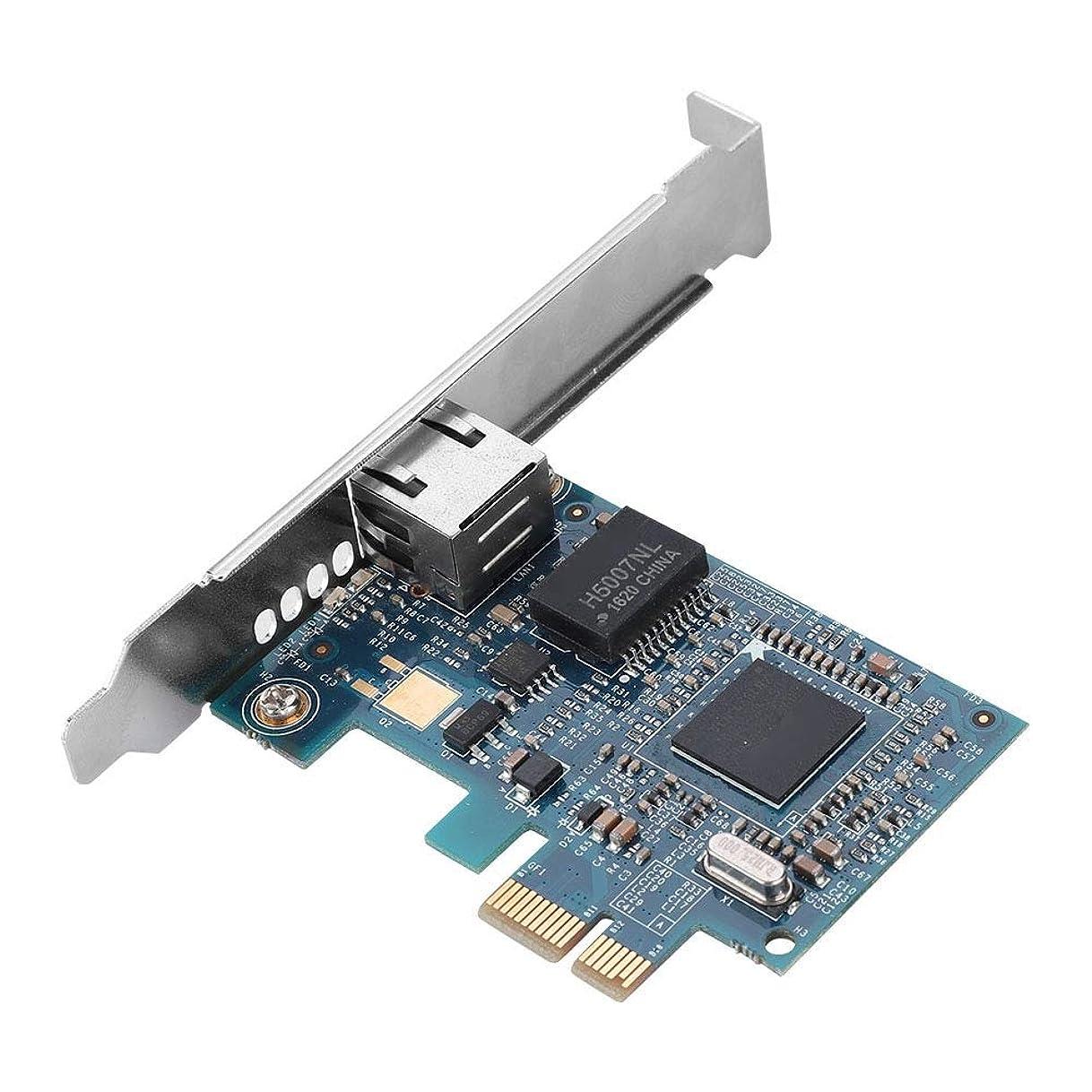 熟達根絶する列車Richer-R ネットワークカード Broadcom BCM5751 10/100 / 1000M PCI-E高速イーサネットネットワークアダプタ デスクトップネットワークカード 複数システムサポート Windows 7/8/10/LINUX適用