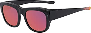 CAXMAN Oversized Fits Over Sunglasses Mirrored Polarized Lens for Women and Men