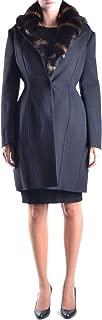 Ermanno Scervino Luxury Fashion Womens MCBI11166 Black Coat   Season Outlet