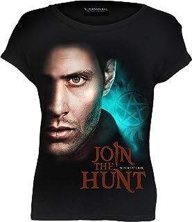 WB Studio - Supernatural - Join The Hunt - Top - boothals en kapmouwen - zwart