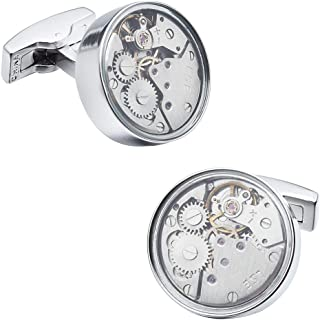 Watch Cufflinks for Men Personalized Movement Cuff Links Set for Wedding Business Casual Dress