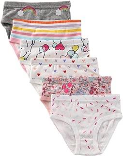 Girls' Soft Cotton Underwear Kids Assorted Briefs 6-Pack
