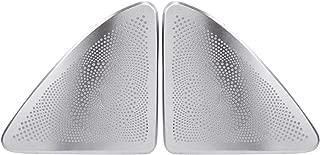 DEALPEAK 2Pcs/Set Car Door Stereo Audio Speaker Cover Trim for Mercedes S Class W222 14-17, Automobile Interior Door Loudspeaker Decorative Accessories