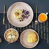 vancasso Tafelservice Steingut, Bella 48 teilig Geschirrset, handbemaltes Kombiservice Set, Marokko Stil, handbemalt für 12 Personen - 6