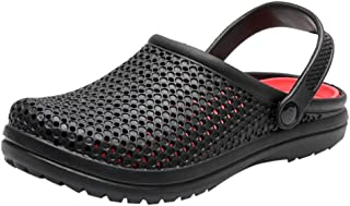 Men's Clogs Slippers Slip On Outdoor Slippers Leisure Mesh Beach Sandal Shoes Summer Bathing Sandals