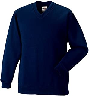 Russell 272M V Neck Sweatshirt French Navy M
