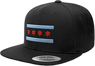 Chicago Flag Hats Illinois Premium Classic Snapback Yupoong Flexfit 6089