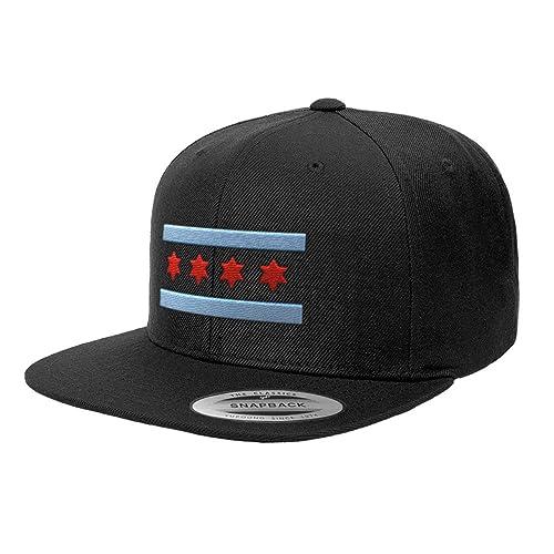 615e2e84206 Chicago Flag Hats Illinois Premium Classic Snapback Yupoong Flexfit 6089