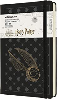"""Moleskine Limited Edition Harry Potter 18 Month 2021-2022 Daily Planner, Hard Cover, Large (5"""" x 8.25""""), Black"""