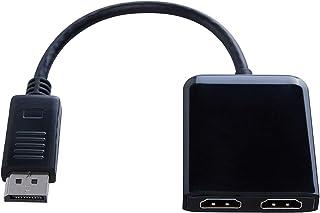 Kanex iAdapt DisplayPort to Dual HDMI MST Hub - DisplayPort 1.2 to 2 HDMI Multi Stream Transport Hub, Multi Monitor Splitter, for Windows PCs