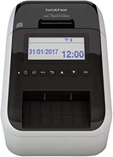 Brother Ql820Nwbua1 2-Kleuren Labelprinter Met Wi-Fi, Bekabelde Netwerkaansluiting, Bluetooth, Airprint En Lcd Scherm