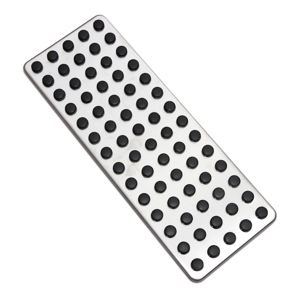 Car Non Slip Foot Rest Plate NO Drill Footrest Pedal Cover For Mercedes Benz LHD