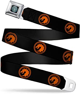 Ender's Game Dragon Army Logo Black/Orange Webbing - Seatbelt Belt X-Large