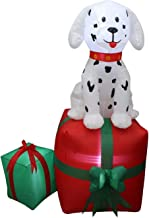 Baga Goodies 5 Ft Tall Christmas LED Inflatable Dalmatian Puppy Dog Pet Present Yard Decoration
